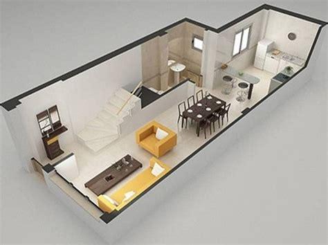 Duplex Layout by Planos Modernos De Living Grande