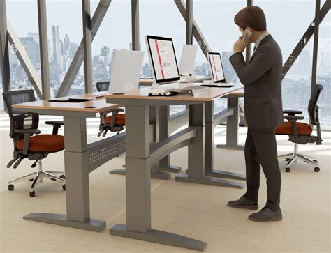 Adjustable Sitting Standing Desk Conset 501 11 Sit Stand Desk Free Delivery Uk Conset Stockists Dealers