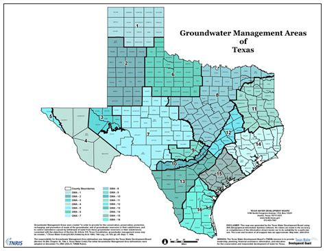 texas water districts map regional planning central texas groundwater conservation district