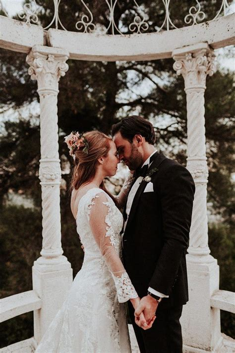 romantic dusty rose french riviera wedding at chateau