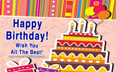 happy birthday to you wish you all the best birthday cards wish you all the best