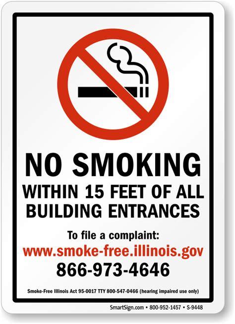 no smoking sign illinois illinois no smoking signs sku s 9448