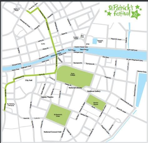 route of new year parade 2016 dublin st s day parade 2016 events route map