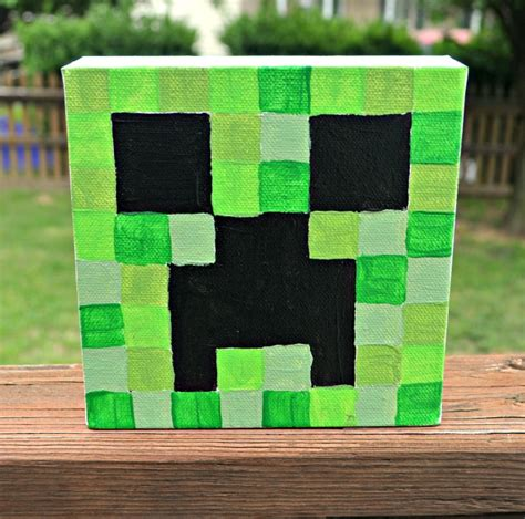 minecraft painting minecraft canvas paintings one artsy