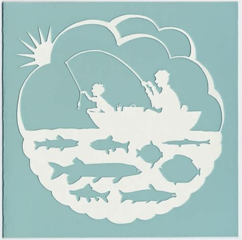 paper cut card templates scherenschnitte template tuesday s day fishing