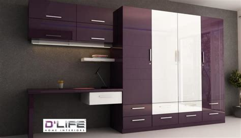 Kitchen Interiors Designs by Wardrobe Study Table For Bedroom Interiors In Kerala