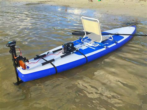 mount motors add electric trolling motor to stand up sup paddle board