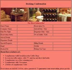 hotel confirmation email template reservation confirmation template free