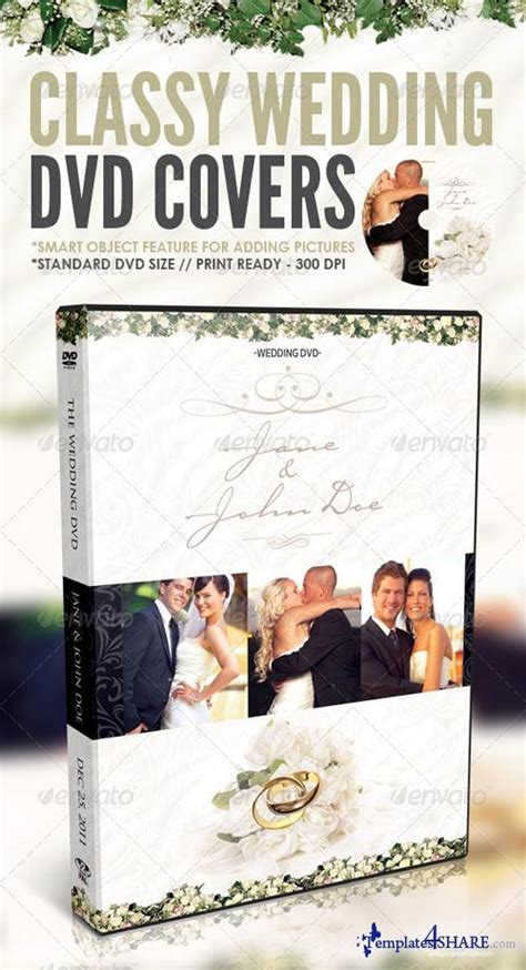 wedding dvd cover template graphicriver wedding dvd covers 187 templates4share