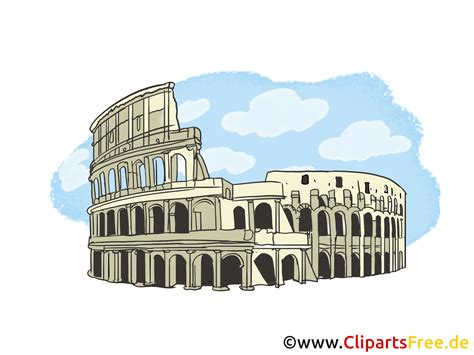rome clipart kolosseum in rom bild clipart illustration grafik gratis