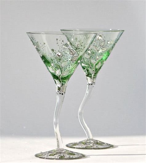 martini glass painting hand painted martini glasses glass painting pinterest