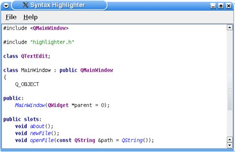 qstring format html syntax highlighter exle qt 4 8