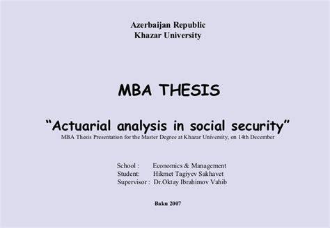Khazar Mba by Thesis Presentation Hikmet