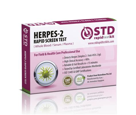 std herpes 2 home test kit std rapid test kits