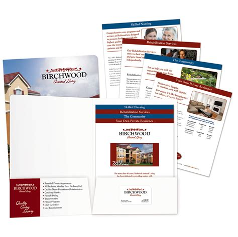 Presentation Folder Stepped Inserts Template Brettfranklin Co Vcu Powerpoint Template