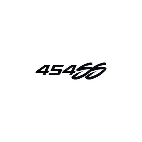 stickers cars decals chevy 454 ss logo stickers