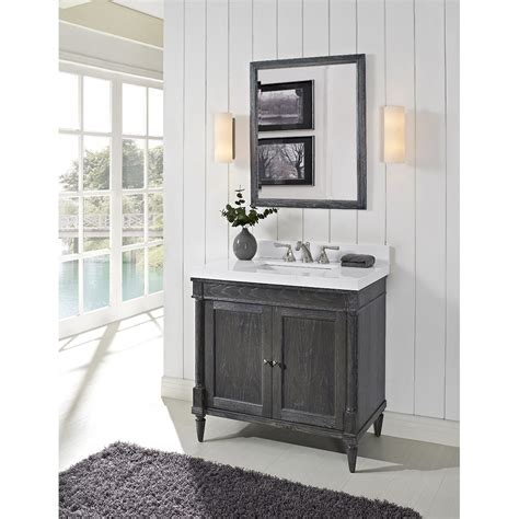 Fairmont Designs Bathroom Vanities Fairmont Designs Rustic Chic 36 Quot Vanity For Quartz Top Silvered Oak Free Shipping Modern