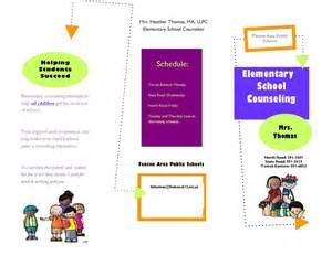counseling brochure template school counseling the helpful counselor