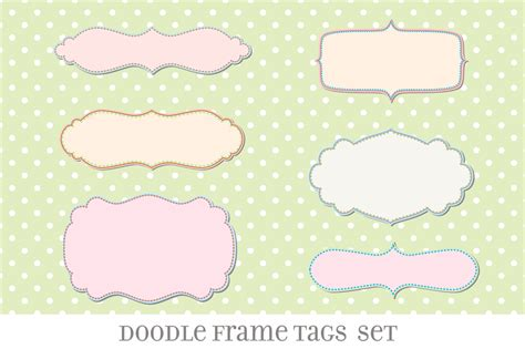 cornici gimp retro label frames brushes set no 27 brushes on creative