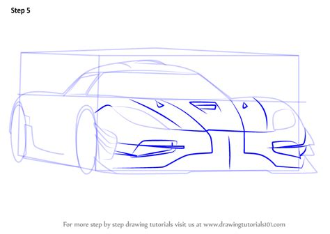 koenigsegg car drawing learn how to draw koenigsegg one sports cars by