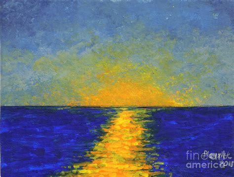 Seashore Home Decor ocean sunset painting by susan plenzick