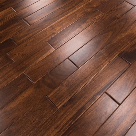 wooden floor ls uk wood plus stained lacquered 18x75mm solid asian walnut