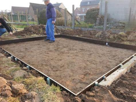 fundering gieten tuinhuis fundering tuinhuis bouwinfo