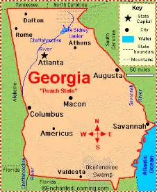 Georgia Map State by Facts About Georgia