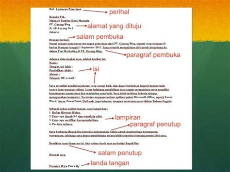Struktur Surat Lamaran Kerja by Analisis Surat Lamaran Kerja Bahasa Indonesia