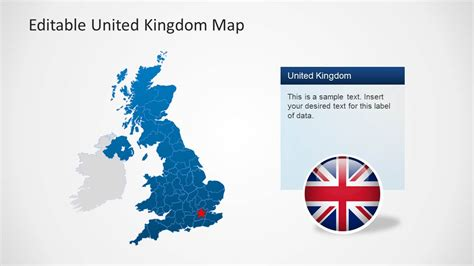 template of uk map uk map template for powerpoint slidemodel