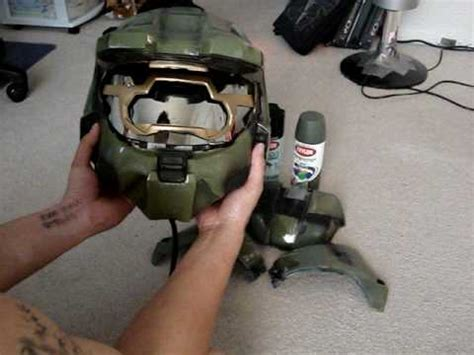 How To Make A Master Chief Helmet Out Of Paper - tutorial how to make a halo 3 master chief motorcycle