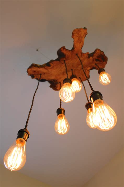 Custom Light Fixture Custom To Order Live Edge Slab Light Fixture With By 7mwoodworking