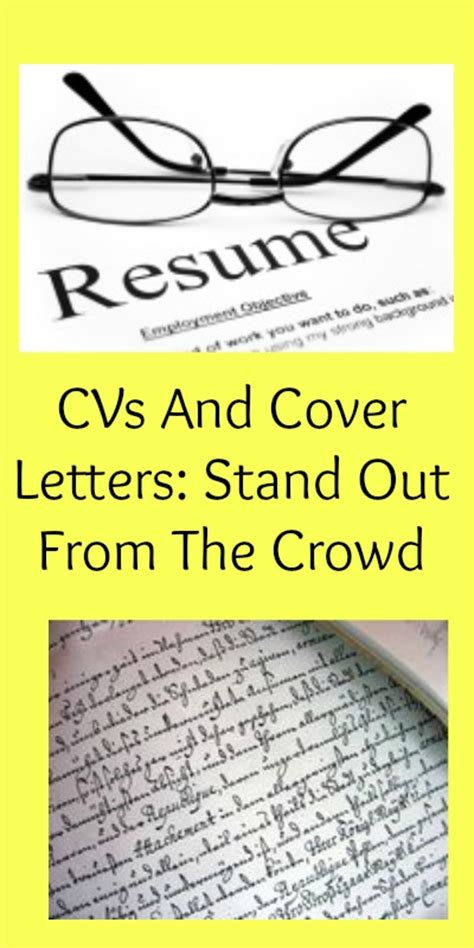 Cover Letters That Stand Out Cvs And Cover Letters Stand Out From The Crowd My Random Musings