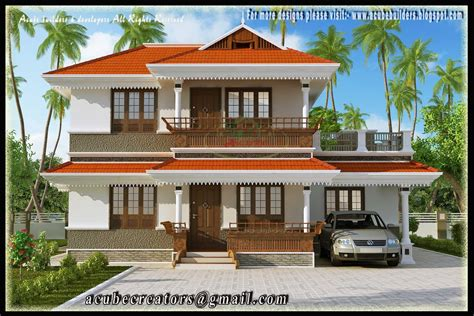 two storey house beautiful kerala style 2 storey house 2172 sq ft plan