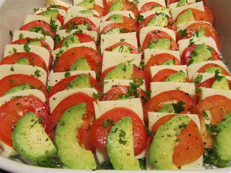 christmas appetizers balsamic mozzarella tomato avocado appetizer tamara
