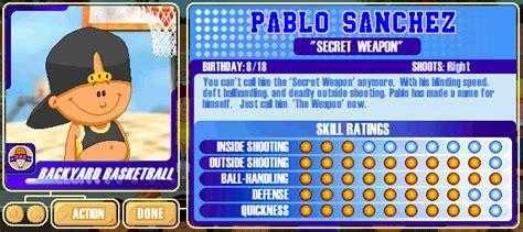 pablo sanchez backyard baseball backyard sports player profile 18 of 30 pablo sanchez