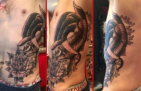 tattoo removal colchester japanese koi fish cover up reds colchester essex