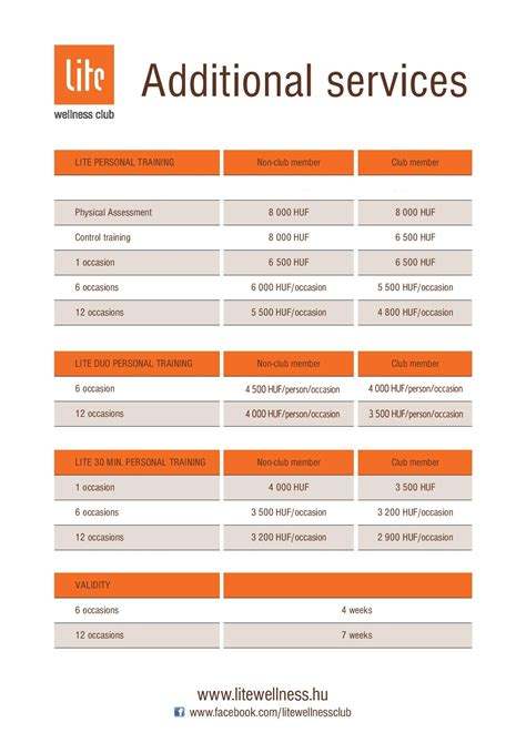 Personal Training Price List Template Free Printable Personal Trainer Contract Form Generic Personal Pricing Template