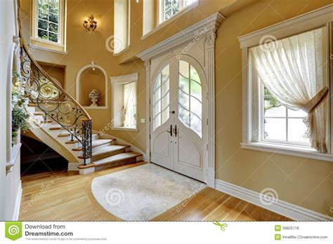 luxurious house interior luxury house interior entrance hallway stock photo image 39825718