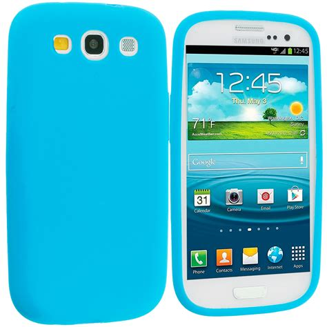 baby blue silicone soft skin cover for samsung galaxy