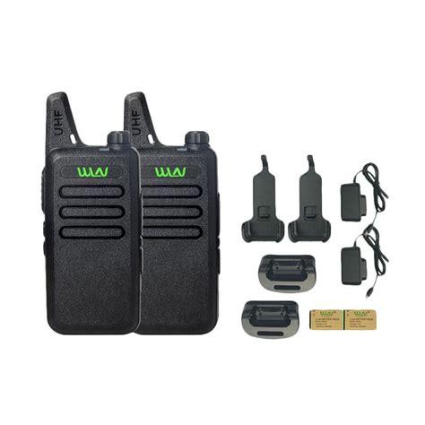 Hitam Stok 2pcs jual sp walkie talkie wln two way radio hitam 2 pcs