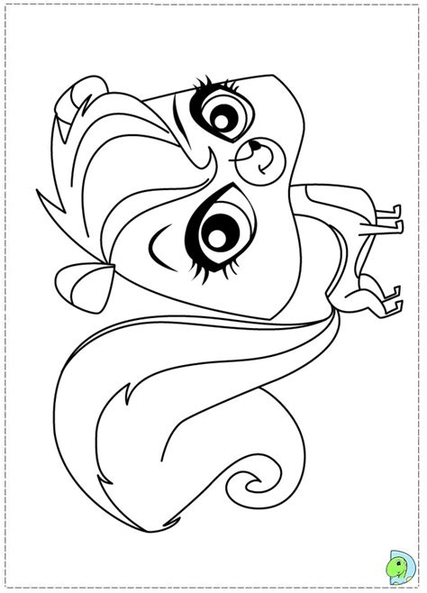 free coloring pages of zoe littlest pet shop