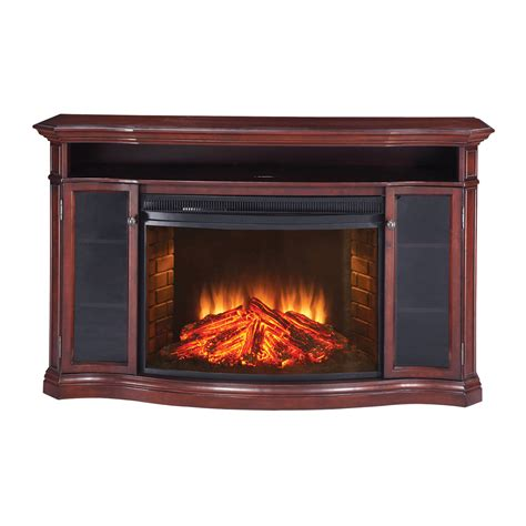 electric fireplace tv stand lowes muskoka mtvsc3303sch stewart electric fireplace media