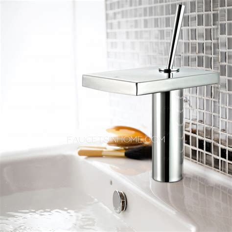 cool bathroom sink faucets cool waterfall copper rotatable handle bathroom sink faucet