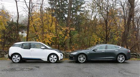 Tesla And Bmw Tesla Model S Vs Bmw I3 Electric Car Efficiency
