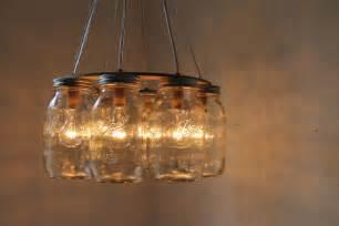 jar light fixtures wagon wheel jar chandelier quart sized by bootsngus