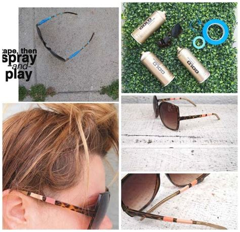 spray paint sunglasses 35 stylish diy sunglasses makeovers diy projects