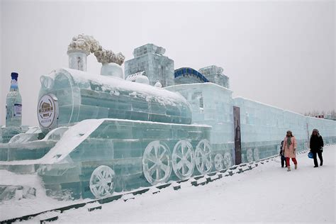 harbin ice festival a city made of ice spectacular ice sculptures at the 2015