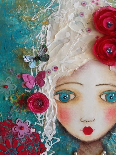 hanging canvas panels mixedmedia diy craft julie prichard made by me julie ryder marie antoinette mixed media