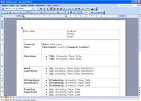 Modelo De Curriculum Vitae Para Rellenar En Ingles Formato Curriculum Vitae Basico 1